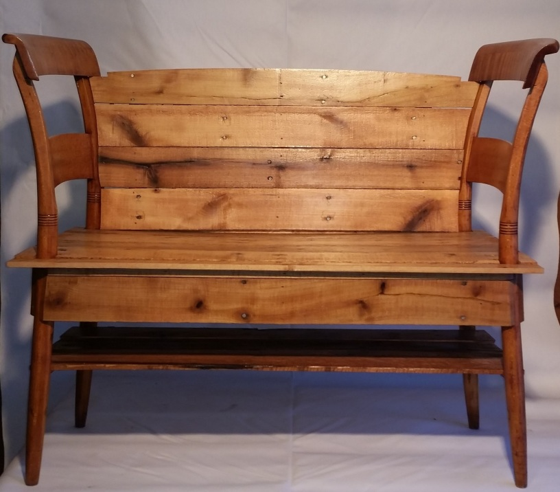 Re purposed maple bench sold the funky phoenix re purposed maple bench sold sciox Image collections
